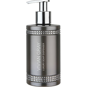 #3310 — Grey Crystal Soap Dispenser